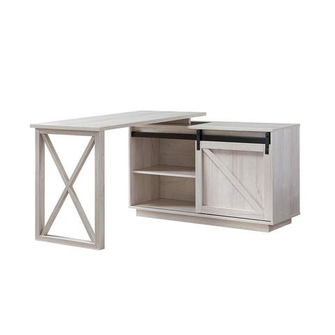 Furniture of America Brasnar Transitional L-shape Desk