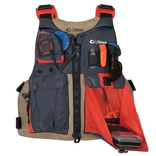"""Onyx Kayak Fishing Vest - Adult Universal - Tan/Grey Kayak Fishing Vest - Adult Universal - Tan/Grey"""