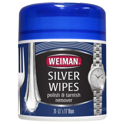 Weiman 48 Silver Wipes for Cleaning & Polishing Silver, 20-Count