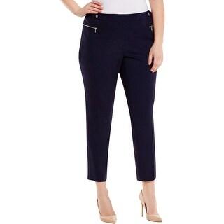 Calvin Klein Womens Plus Pants Stretch Flat Front