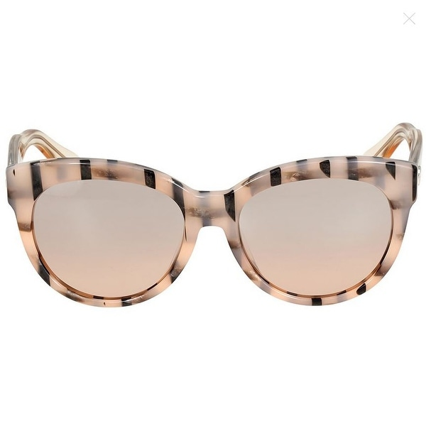 3e9d5cc320d4 Shop Gucci Asian Fit Rose Gold Striped Cat Eye Sunglasses - Beige ...