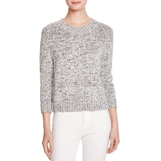 Theory Womens Serino Pullover Sweater Marled Ribbed Knit