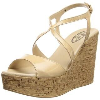 Callisto Womens Elliot Open Toe Casual Platform Sandals