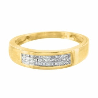 Princess Cut Diamond Ring Wedding Engagement 14k Yellow Gold High End
