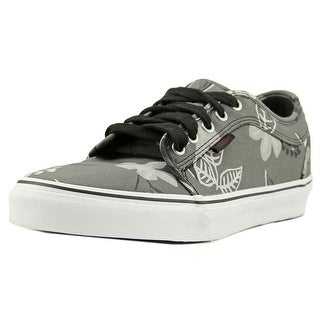 Vans Chukka Low Men  Round Toe Canvas Gray Skate Shoe
