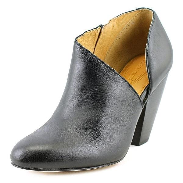 Corso Como Yonkers Women Round Toe Leather Black Bootie