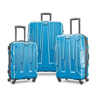 Samsonite Centric 3 Piece Expandable Hardside Spinner Luggage Set, Caribbean Blue