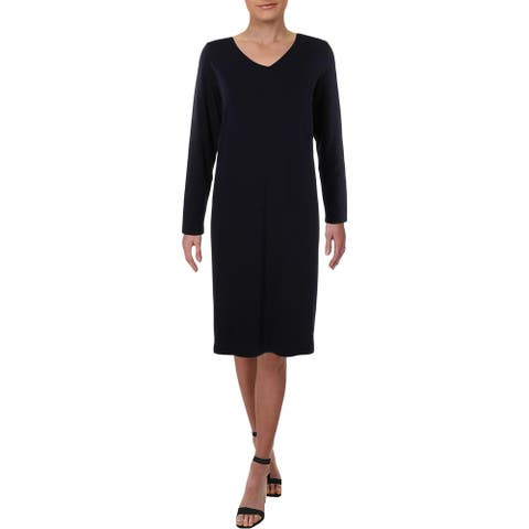Eileen Fisher Womens Casual Dress V Neck Office