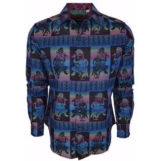 Robert Graham Classic Fit Dancing Buddha Numbered Ltd. Edition Sport Shirt L