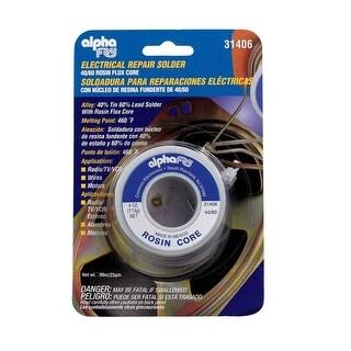 Alpha 31406 Electrical Repair Rosin Core Solder, 4 Oz