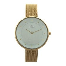 Skagen Skw2141 Gitte Gold-Tone Stainless Steel Mesh Bracelet Watch Watch For Women