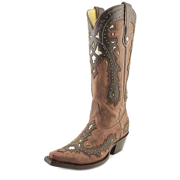 Corral G1042 Women Pointed Toe Leather Brown Western Boot