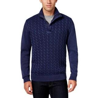 Weatherproof Mens Sweater Cable Knit 1/4 Zip - xxxl