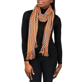 Missoni D4902 Wool Blend Crochet Knit Scarf