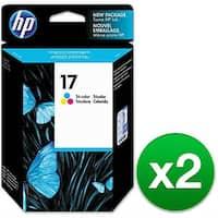 HP 17 Tri-color Original Ink Cartridge (C6625A) (2-Pack)
