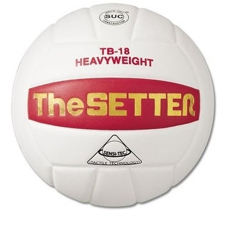 Tachikara TB18 The Setter Volleyball (White/Scarelet Red) - White