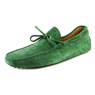 Tod's New Laccetto Occh. New Gommini 122 Men Moc Toe Suede Green Loafer