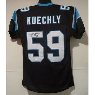 Luke Kuechly Autographed Carolina Panthers Size XL black jersey JSA