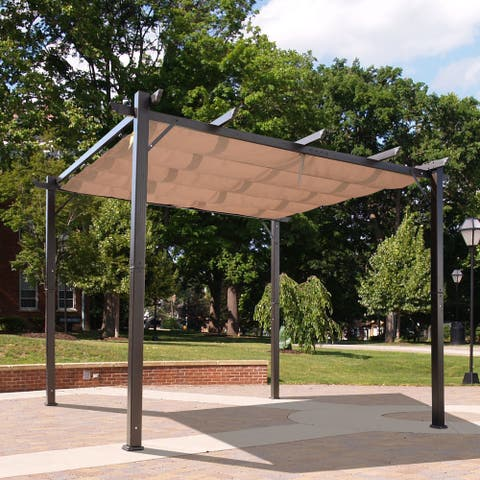 Outsunny 10' x 10' Aluminum Outdoor Pergola Gazebo Backyard Canopy Cover