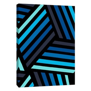 """PTM Images 9-108751  PTM Canvas Collection 10"""" x 8"""" - """"Monochrome Patterns 4 in Blue"""" Giclee Abstract Art Print on Canvas"""
