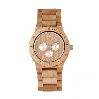 Earth Wood Bonsai Men's Quartz Watch, Wood Band, Luminous Hands
