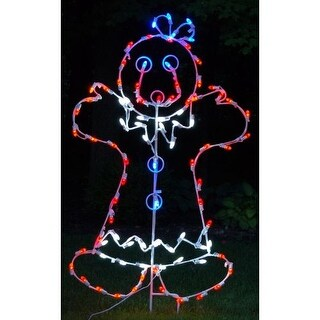 Christmas at Winterland WL-GM110-LED LED Light Mrs Gingerbread Woman