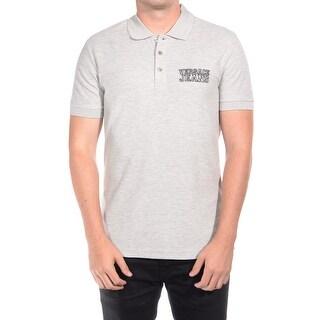 Versace Jeans Couture Men's Cotton VJC Logo Cotton Polo Shirt Heather Grey