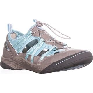 JSport by Jambu Hibiscus Walking Sneakers, Cement/Pastel Blue - 7 us / 37 eu