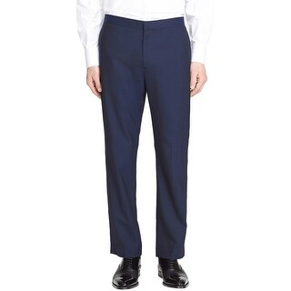 THEORY Mens Jake Slim Fit Flat Front Formal Tuxedo Pants 38 Navy Blue