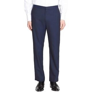 THEORY Mens Jake Slim Fit Flat Front Tuxedo Pants Size 40 Navy Blue
