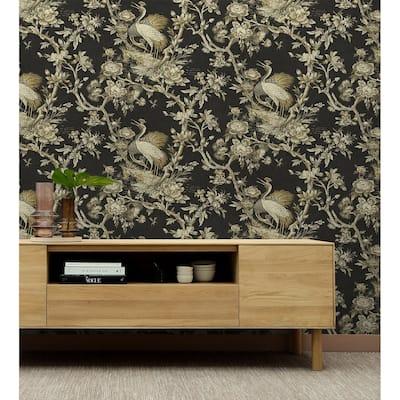 Seabrook Designs Richmond Hill Crane Unpasted Wallpaper