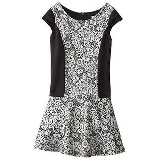 Emily West Girls Lace Print Casual Dress - 7