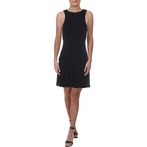 Julie Brown Womens Cocktail Dress Sleeveless Pleated - New Navy