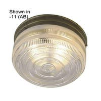 "Sunset Lighting F3278 2 Light 120 Watt 11"" Wide Flush Mount Ceiling Fixture - White"