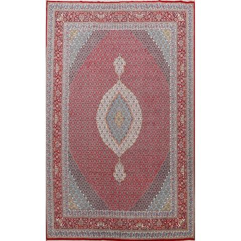 "Geometric Traditional Tabriz Oriental Area Rug Living Room Carpet - 9'9"" x 13'2"""