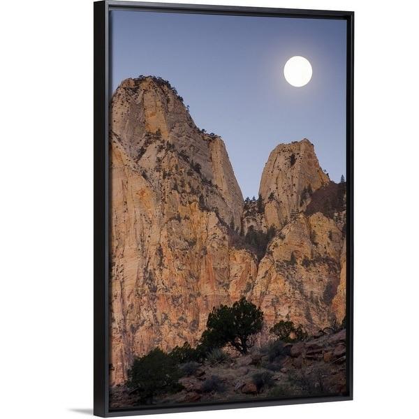 shop floating frame premium canvas with black frame entitled full