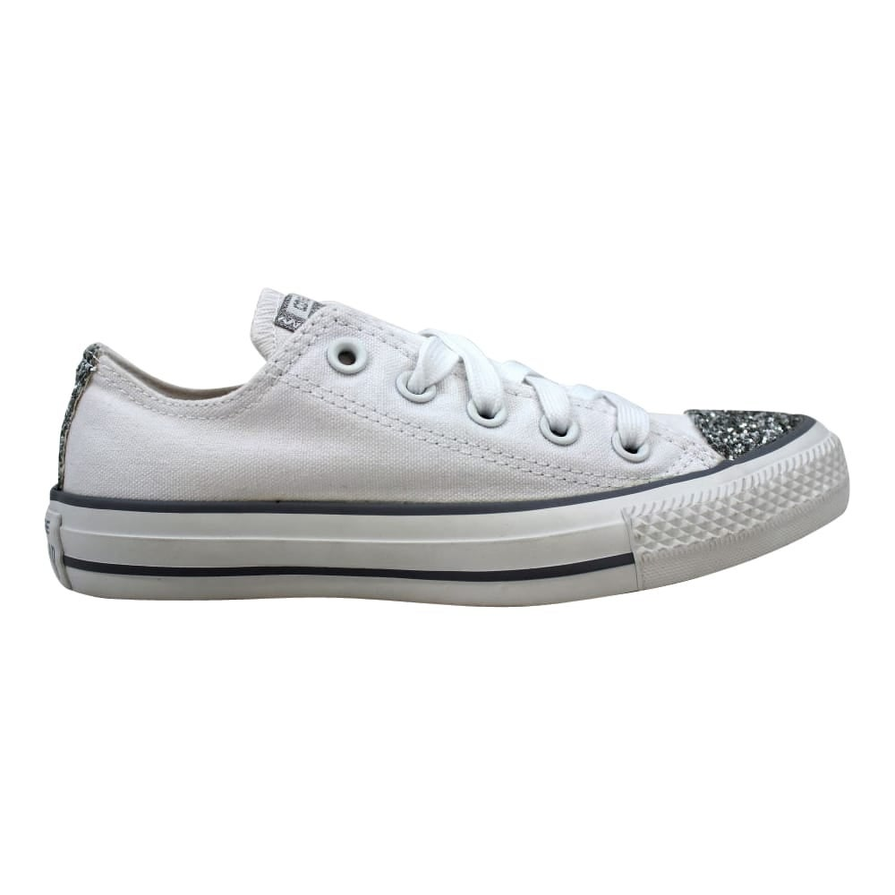 White low converse Leather laser cut out Size Depop
