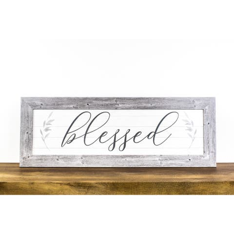 Blessed Framed Art Inspirational Decor Farmhouse Sign