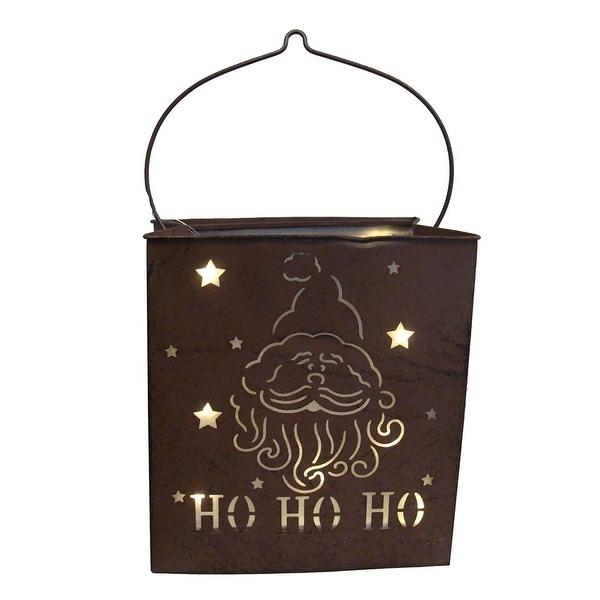 "12.5"" Shimmering LED Lighted ""Ho Ho Ho"" Santa Claus Battery Operated Christmas Lantern"