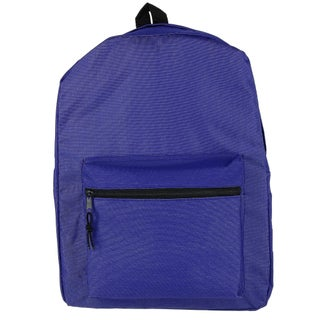 2 Moda Kids' Solid Basic Backpack with Front Zipper - One size