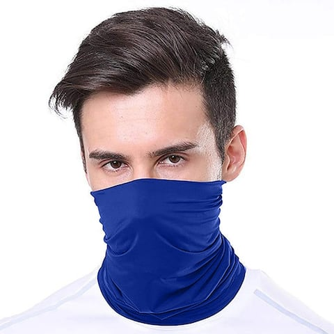 2-Pack Moisture Wicking Breathable Stretch Gaiter Neck Face Mask (Multiple Colors)