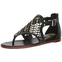 Vince Camuto Womens Sitara Leather Open Toe Casual Ankle Strap Sandals