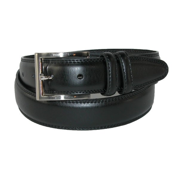 Aquarius Men's Big & Tall Leather Padded Belt with Satin Buckle