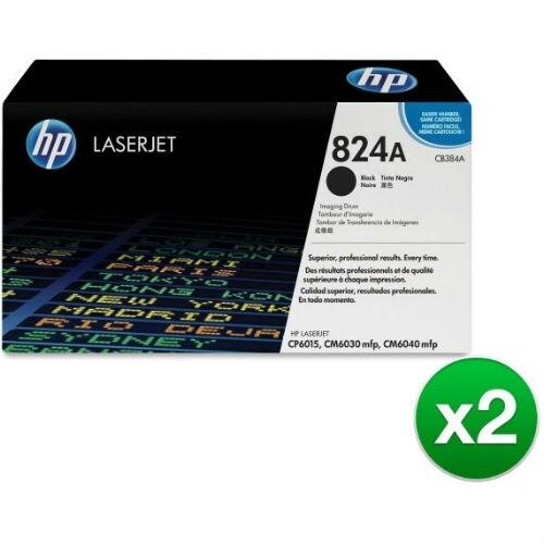 HP 824A Black LaserJet Image Drum (CB384A)(2-Pack)