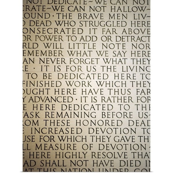 photograph about Gettysburg Address Printable named Retail store Gettysburg Deal with - Multi-coloration - Absolutely free Shipping and delivery Upon