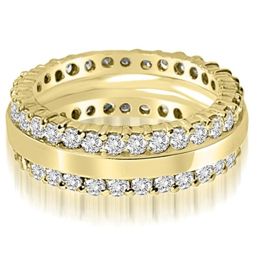 1.75 cttw. 14K Yellow Gold Round Prong Diamond Eternity Ring