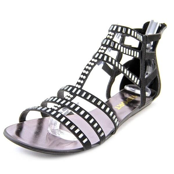 Report Layshia Women Open Toe Synthetic Black Gladiator Sandal