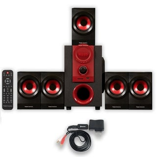 Theater Solutions TS521 Home Theater 5.1 Speaker System Powered with Bluetooth