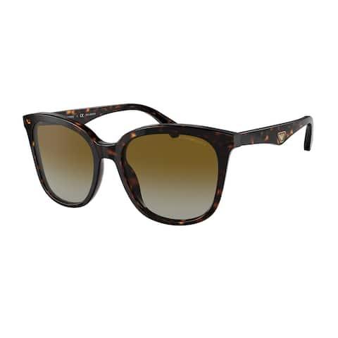 Emporio Armani EA4157 5234T5 55 Havana Woman Pillow Sunglasses