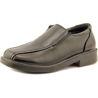 Detour Alec Youth Square Toe Leather Black Loafer